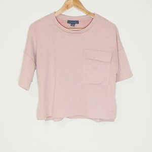 Primark Blush Pink Cropped Top Size S